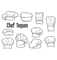 Chef caps and hats set vector image