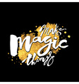 Make magic things vector image