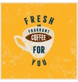 Coffee typographical vintage style poster vector image