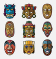 african craft voodoo tribal mask and inca south vector image