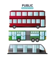 Bus cable car and railways vehicle design vector image