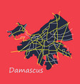 flat map design - damascus city vector image