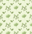 gentle green seamless pattern vector image
