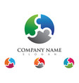 puzzle adoption and community care logo template vector image