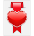 Ribbon with Heart vector image