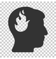 Brain Fire Icon vector image
