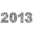 2013 floral design vector image vector image
