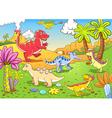Cartoon Dinosaur Background vector image vector image