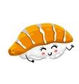 Funny sashimi sushi isolated cartoon character vector image