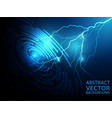 lightning abstract blue background vector image