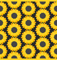 sunflower flat seamless pattern vector image