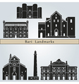 Bari landmarks and monuments vector image