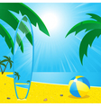 Summer beach and surf board2 vector image
