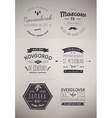 6 Hand Drawn Style Logos vector image