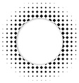 Circle halftone element for your design Technology vector image
