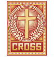 christian cross poster vector image