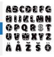 cute funny childish finnish alphabet font vector image