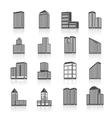 Edifice buildings icons set vector image