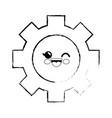 gear cartoon smiley vector image
