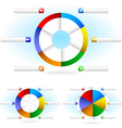 pie charts vector image