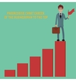 progressive chart career vector image