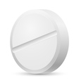 Realistic white tablet vector image