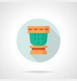 souvenir drum flat round icon vector image