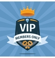 VIP Club members only background vector image