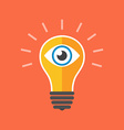 Vision concept Flat design Isolated on color vector image