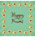 Jewish holiday of Purim greeting card vector image