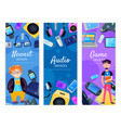 geek devices vertical banners vector image