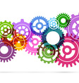 Bright gear fly background template vector image