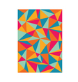 pattern triangles colorful background vector image vector image