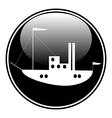 Ship button vector image vector image