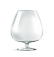 Cognac glass vector image