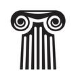 Greek column icon2 resize vector image
