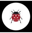 red ladybug animal symbol simple black icon eps10 vector image