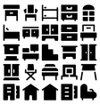 Building and Furniture Icons 9 vector image