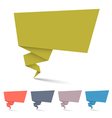 Origami speech bubbles vector image