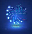 Abstract Light and line vector image