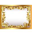 ancient background framed gold vegetative ornament vector image