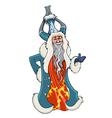 cartoon chinese grandfather Christmas vector image