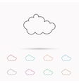 Cloud icon Overcast weather sign vector image