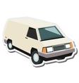 commercial van icon vector image