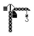 crane construction icon vector image