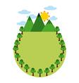 eco landscape vector image