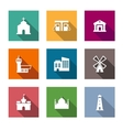 Flat architectural icons vector image