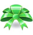 Green ribbon bow vector image