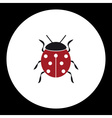 Red ladybug animal symbol simple black icon eps10 vector image