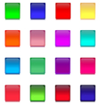 Set with Multicolored Square Glass Buttons vector image